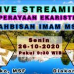 Perayaan Ekaristi Tahbisan Imam MSF – 2020